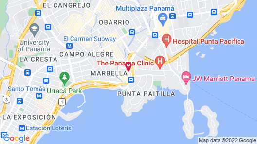 Decapolis Hotel Panama City Map