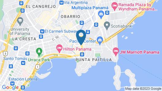 Las Americas Golden Tower Panama Map