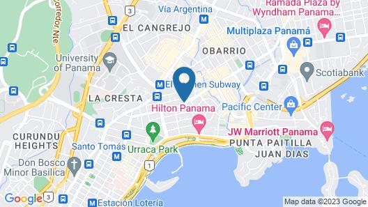 W Panama Map