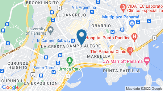 Bristol Panama, a Registry Collection Hotel Map