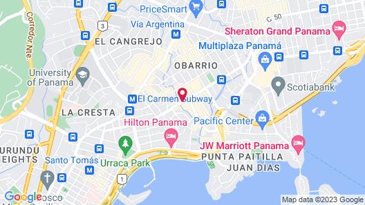 Hotel Riu Plaza Panama Map