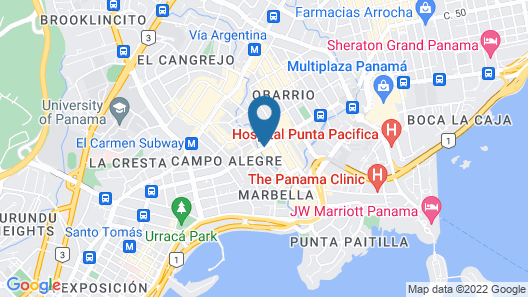 Hotel Riu Plaza Panama Map