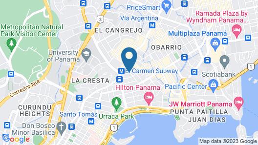 Hyatt Place Panama City/Downtown Map