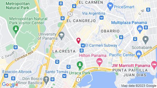 Crowne Plaza Panama Map