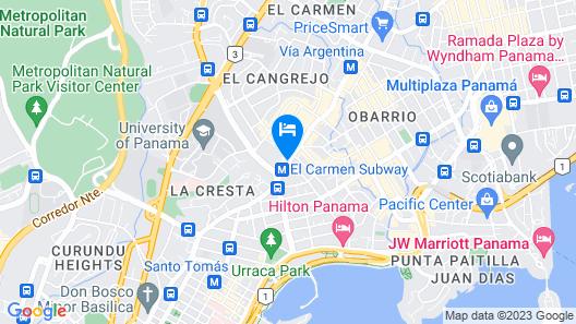 Hotel El Panama by Faranda Grand Map
