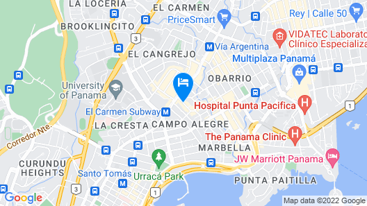 AC Hotel by Marriott Panama City Map