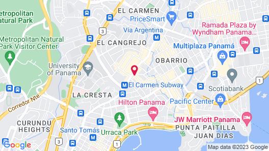 Eurostars Panama City Map