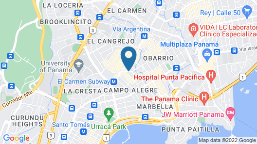 Oriental Panama City Map