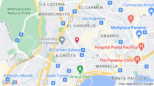 Hilton Garden Inn Panama Map