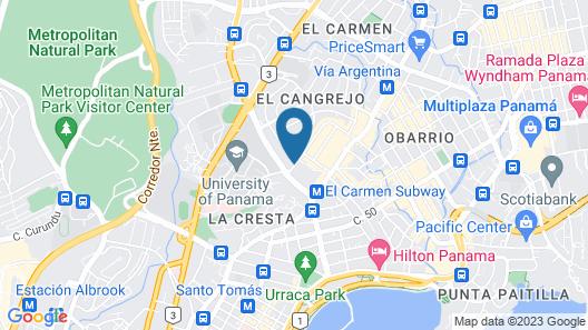 Hilton Garden Inn Panama City Downtown Map