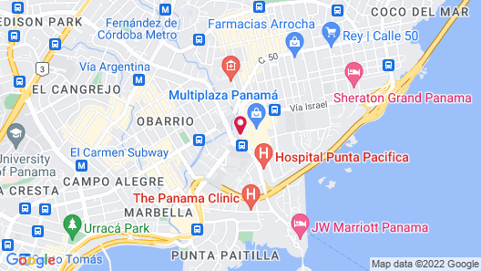 Courtyard by Marriott Panama Multiplaza Mall Map