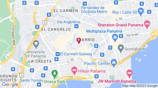 Global Hotel Panama Map