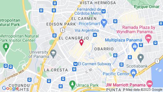 Hampton by Hilton Panama Map