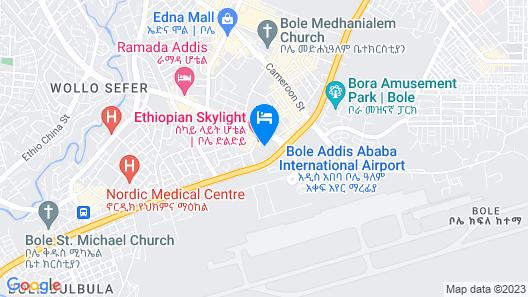 Ethiopian Skylight Hotel Map