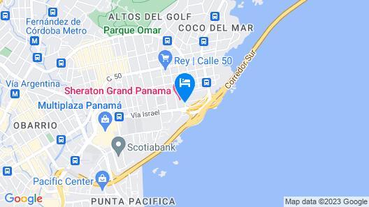 Sheraton Grand Panama Map