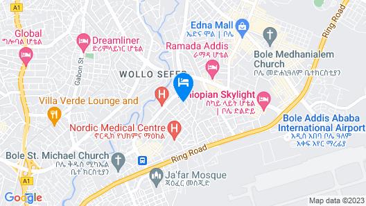 Ye-Afoli International Hotel Map