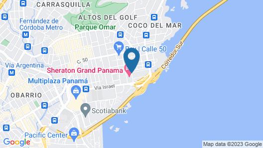 Aloft Panama Map