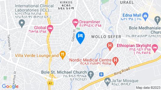 Miracle Hotel Addis Ababa Map