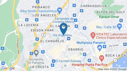 Novotel Panama City Map