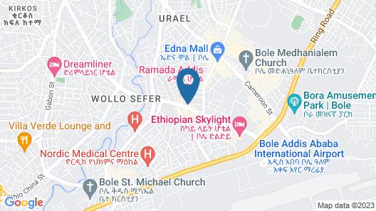 Ramada by Wyndham Addis Ababa Map