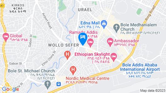 Jupiter International Hotel Bole Map