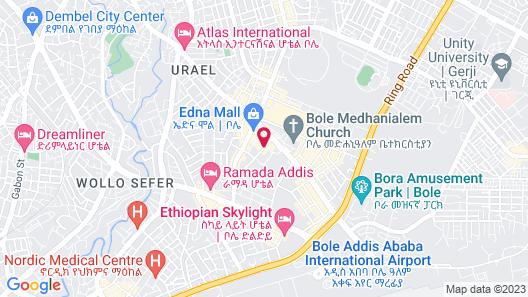 Golden Tulip Addis Ababa Map