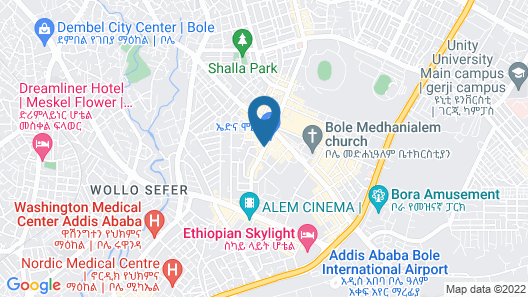 Best Western Plus Addis Ababa Map