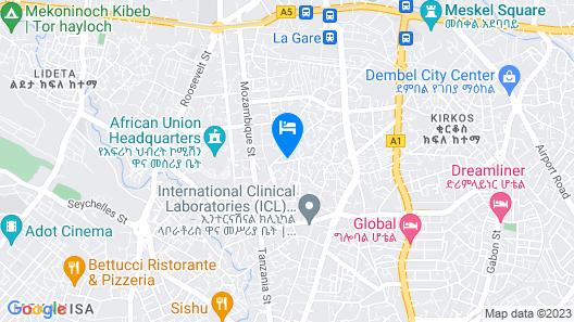 Addis View Hotel Map