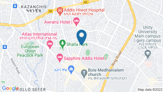 Addissinia Hotel Map