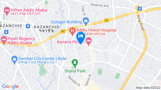 Oasis Hotel Apartment Map