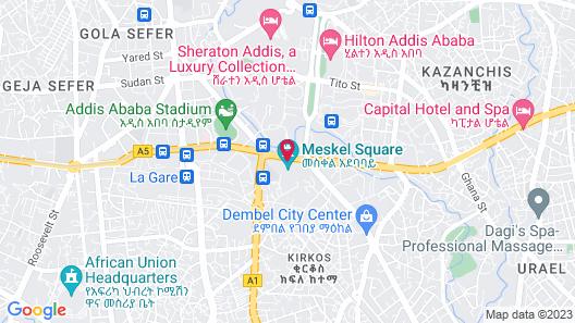 Hyatt Regency Addis Ababa Map