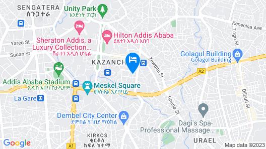 Aphrodite International Hotel Map