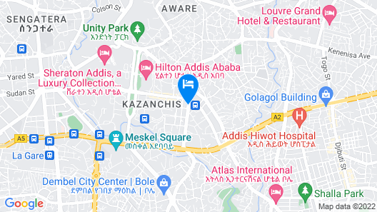 Intercontinental Hotel Addis Map