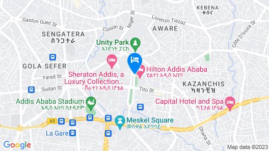 Hilton Addis Ababa Map