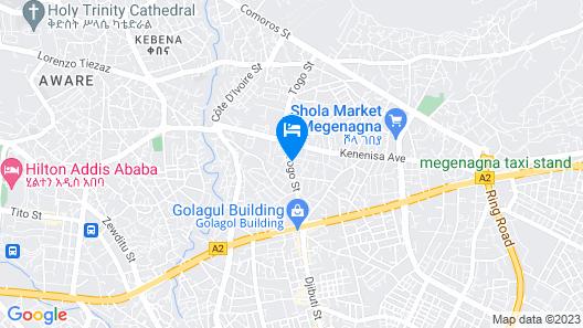 Melala Addis Bed & Breakfast Map