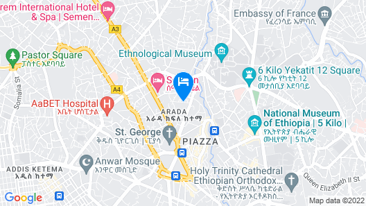 Addis Regency Hotel Map