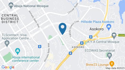 BON Hotel Stratton Asokoro Map