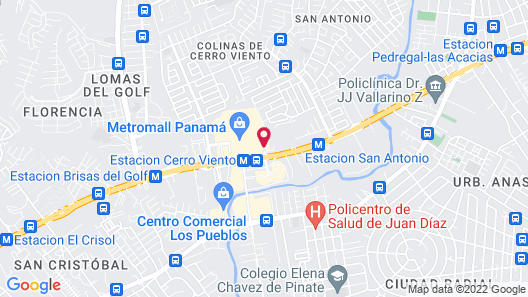 Courtyard by Marriott Panama Metromall Map