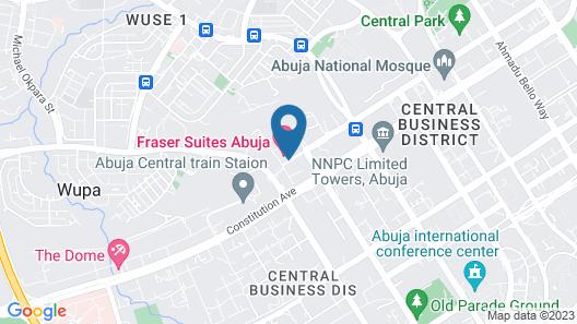 Fraser Suites Abuja Map