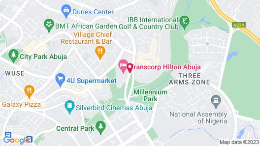 Transcorp Hilton Abuja Map
