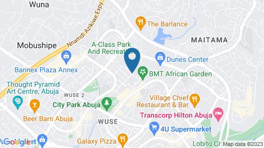 Commodore Hotel Abuja Map
