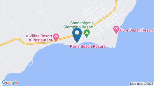 Kav's Beach Resort Map