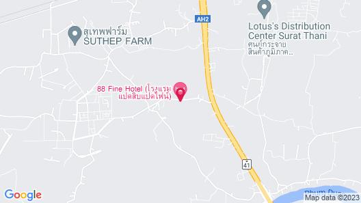 88 Fine Room @surat Thani Airport Map