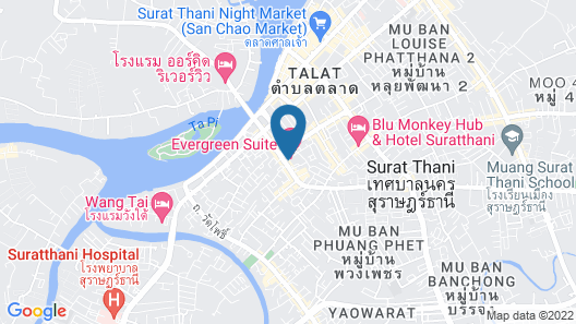 Evergreen Suite Hotel Map