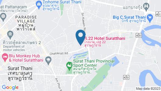 S.22 Hotel Suratthani Map