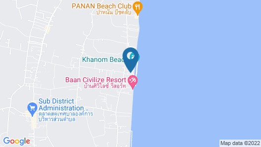 Talkoo Beach Resort Khanom Map