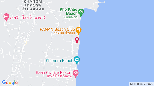 Alongkot Beach Resort Khanom Map