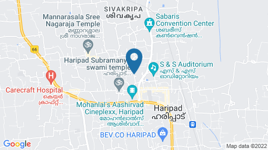 Alleppey Prince Hotel Map