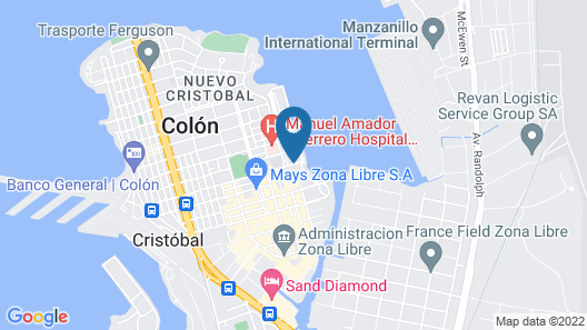 Radisson Colon 2,000 Hotel & Casino Map