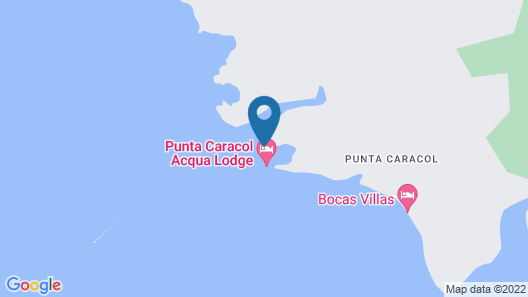 Punta Caracol Acqua Lodge Map
